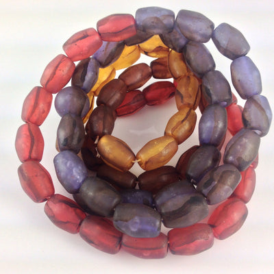 Vintage Plastic Foil Beads, Japan - Rita Okrent Collection (C215)