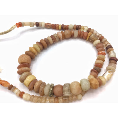 Mixed Neolithic and Ancient Carnelian, Rock Crystal and Agate Beads, Strand - Rita Okrent Collection (S414)