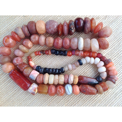 Ancient Agate, Carnelian and Stone Beads, Mali  - S349b