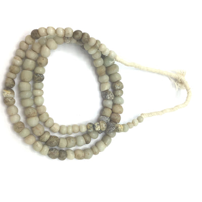 Antique Venetian White Glass European Padre Beads from the African Trade - RitaOkrentCollection (AT0658c)