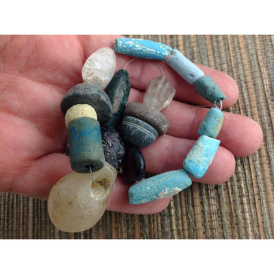 Glass, Stone and Faience Beads circa 2000BCE, Middle East - Rita Okrent Collection (AN131a)