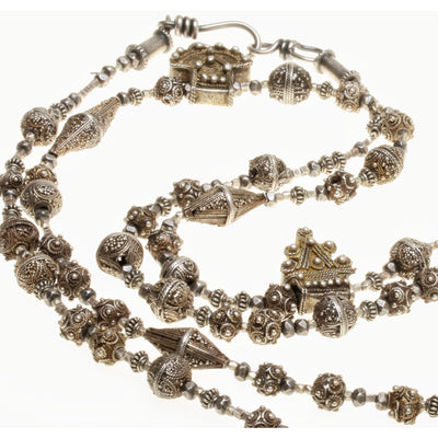 Favorite Antique Small Silver and Gold Washed Silver Granulated Mauritanian Beads - Rita Okrent Collection (C465e)