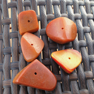 Large Faux Amber Chunks, Set of 5, Morocco - Rita Okrent Collection (NP026)