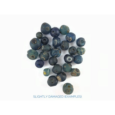 Blue and Green Islamic Ancient Glass Eye Beads, Mali and Mauritania- Rita Okrent Collection (AG110N)