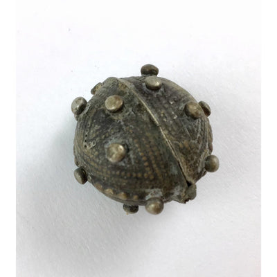 Round Silver Mauritanian Aggrab Al Fadda Bead, with Granulation - Rita Okrent Collection (C198h)