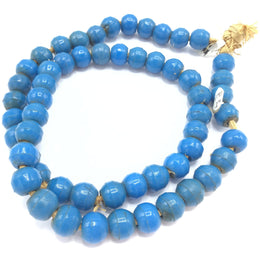 Blue Molded Glass Prosser Trade Beads, African Trade -  Rita Okrent Collection (AT1212)