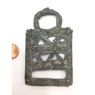 Large Antique Bronze Pendant from the Dogon People, Mali - Rita Okrent Collection (P615)