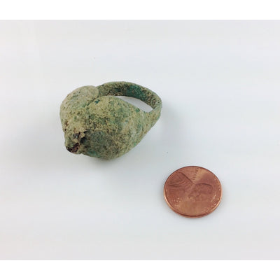 Rare Ancient Bronze Ring with Patina, from Guimbala Region of Mali - Rita Okrent Collection (BR050)