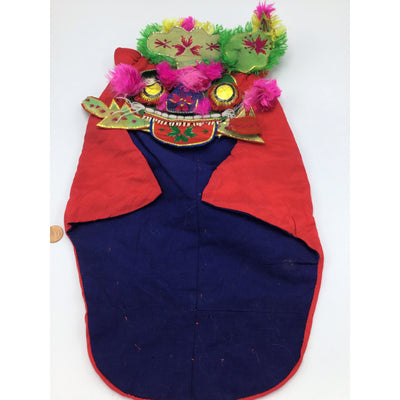 Traditional Chinese Children's Tiger Hat with Green Ears - Rita Okrent Collection (AA011)
