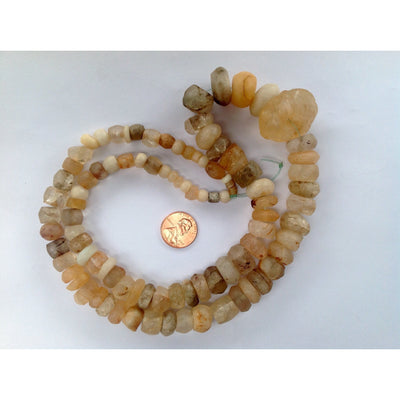 Mixed Ancient and Antique Agate and Rock Crystal Beads from West Africa - Rita Okrent Collection (S412)