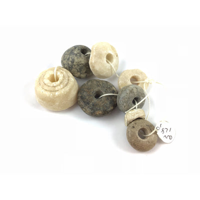 Strand of Ancient Spindle Whorls and Stone beads - Rita Okrent Collection (AN128b)
