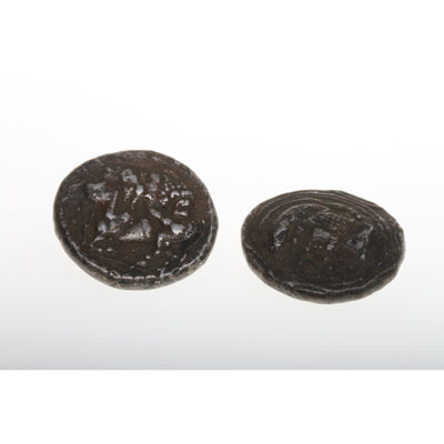 Set of 2 Faux Ancient Silver Coins from the Collection of Robert Liu - AA321