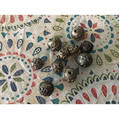 Old Medium Sized Silver Beads from Morocco - Rita Okrent Collection (ANT359)