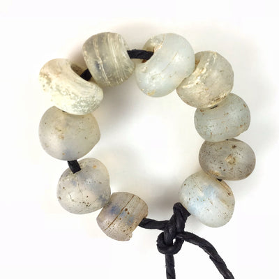 10 Rare Antique Opalescent Dutch Moon Beads - Rita Okrent Collection (ANT330a)