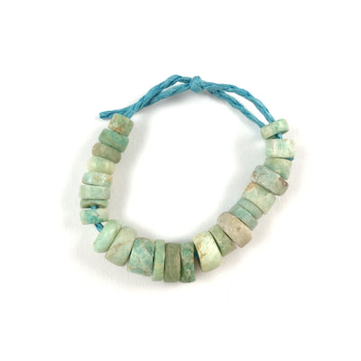 Ancient Amazonite Beads, Short Strand, from Mauritania - Rita Okrent Collection (S322h)