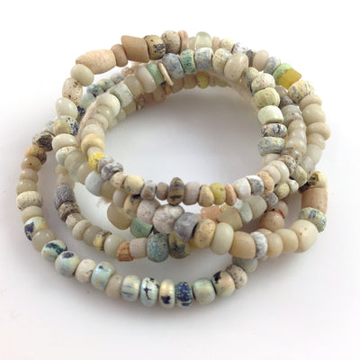 Antique Excavated Mixed Pearlized Venetian and Nila Beads from Mali - Rita Okrent Collection (AT0628e)
