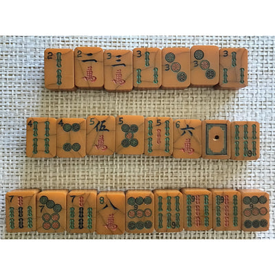 Antique Bakelite Mah Jong Tiles from Hong Kong - Rita Okrent Collection (P528b)