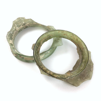Roman Glass Circular Glass Fragments - Rita Okrent Collection (C231)