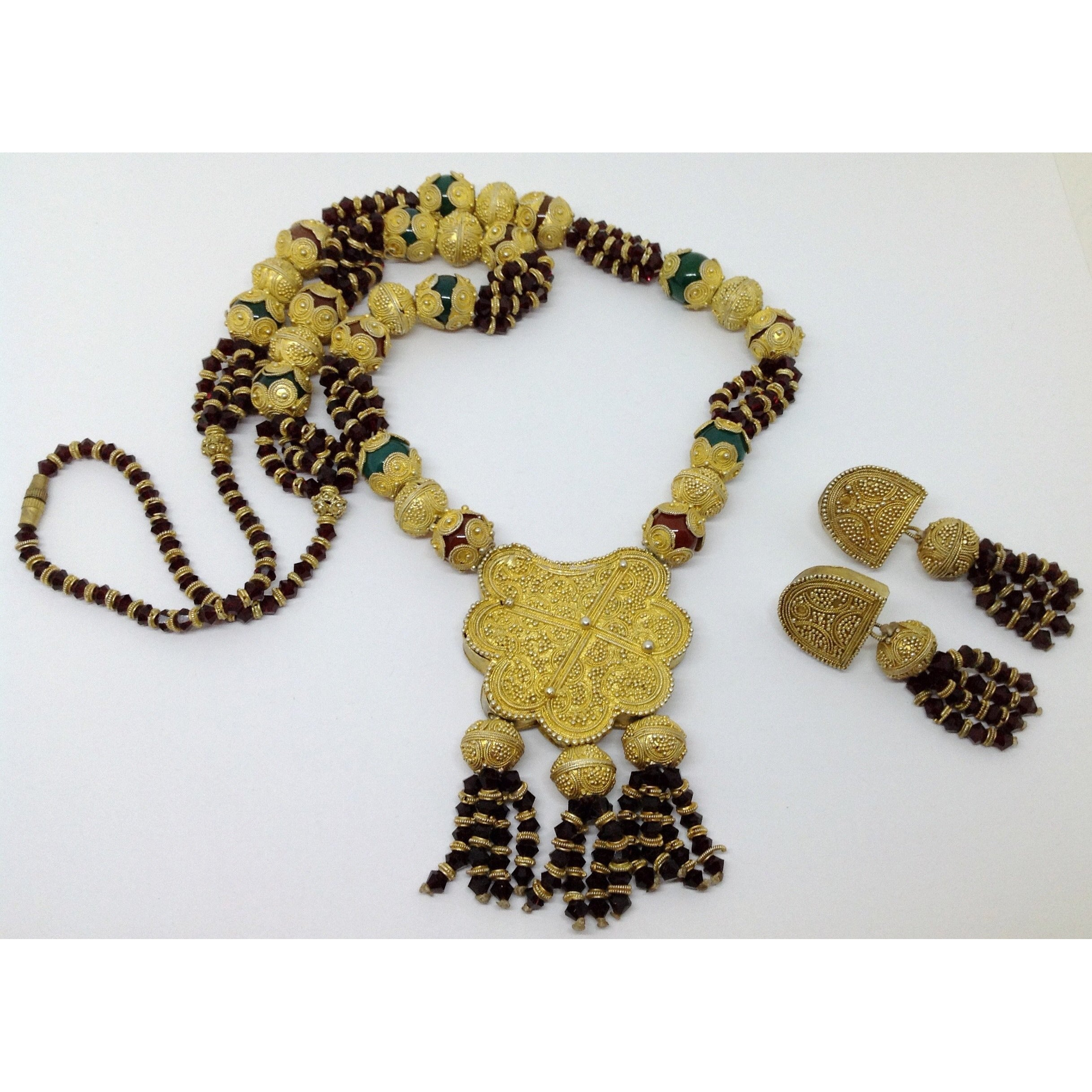 expertissim berber berbere morocco parure draa valley necklace set jewelry