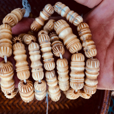 Lovely Hand-Carved Antique Bone Beads from the African Trade, Strand - AT01559