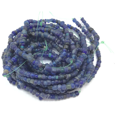 Richly Hued Dark Blue Glass Ancient Indo Pacific / Nila Beads - Rita Okrent Collection (AT0611p)