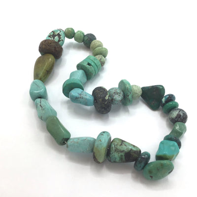 Mixed Mostly Turquoise Stone Bead Strand from Rita's Design Room - Rita Okrent Collection (S241b)