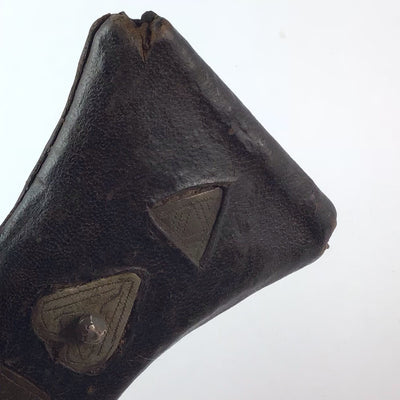 Antique Tuareg Tcherot Leather Amulet, Mauritania - Rita Okrent Collection (P642f)