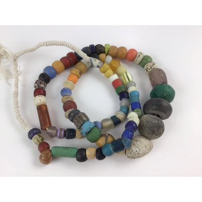 Mixed 33 Inch Strand of Antique and Vintage Beads from the African Trade - RIta Okrent Collection (ANT323)