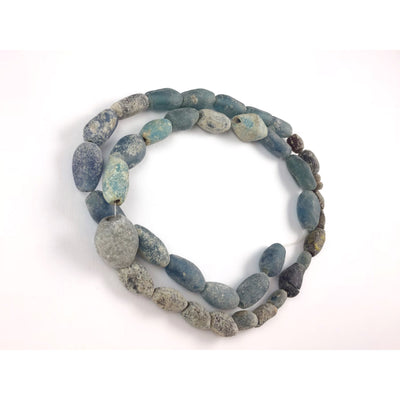 Excavated Blue Islamic Glass Beads from Mali - Rita Okrent Collection (AG111m)