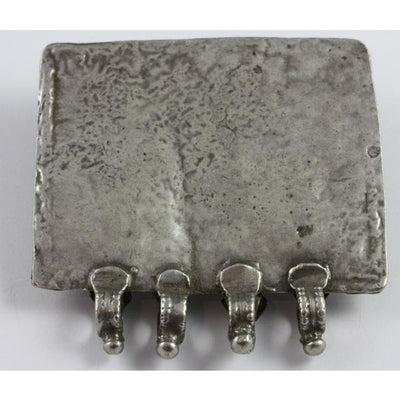 Antique Handcrafted Rectangular Silver Amulet, India