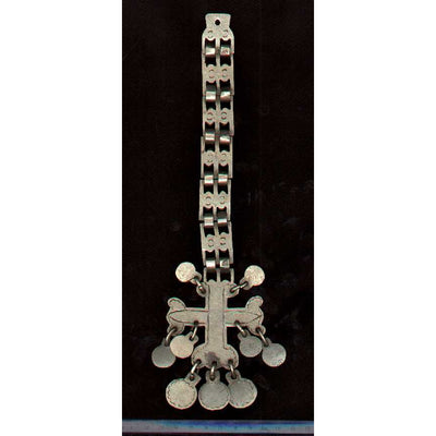 Mapuche Traditional Silver Breast Ornament, Chile, Old