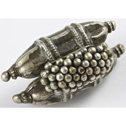 Antique Silver Amulet with Double Sealed Cylinders, India