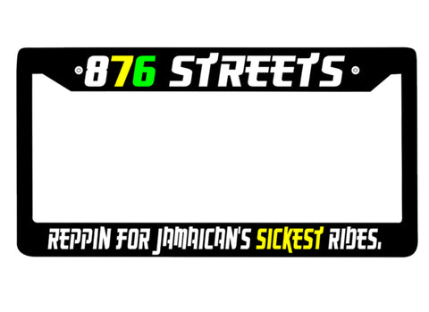 876 Streets Plate Frames