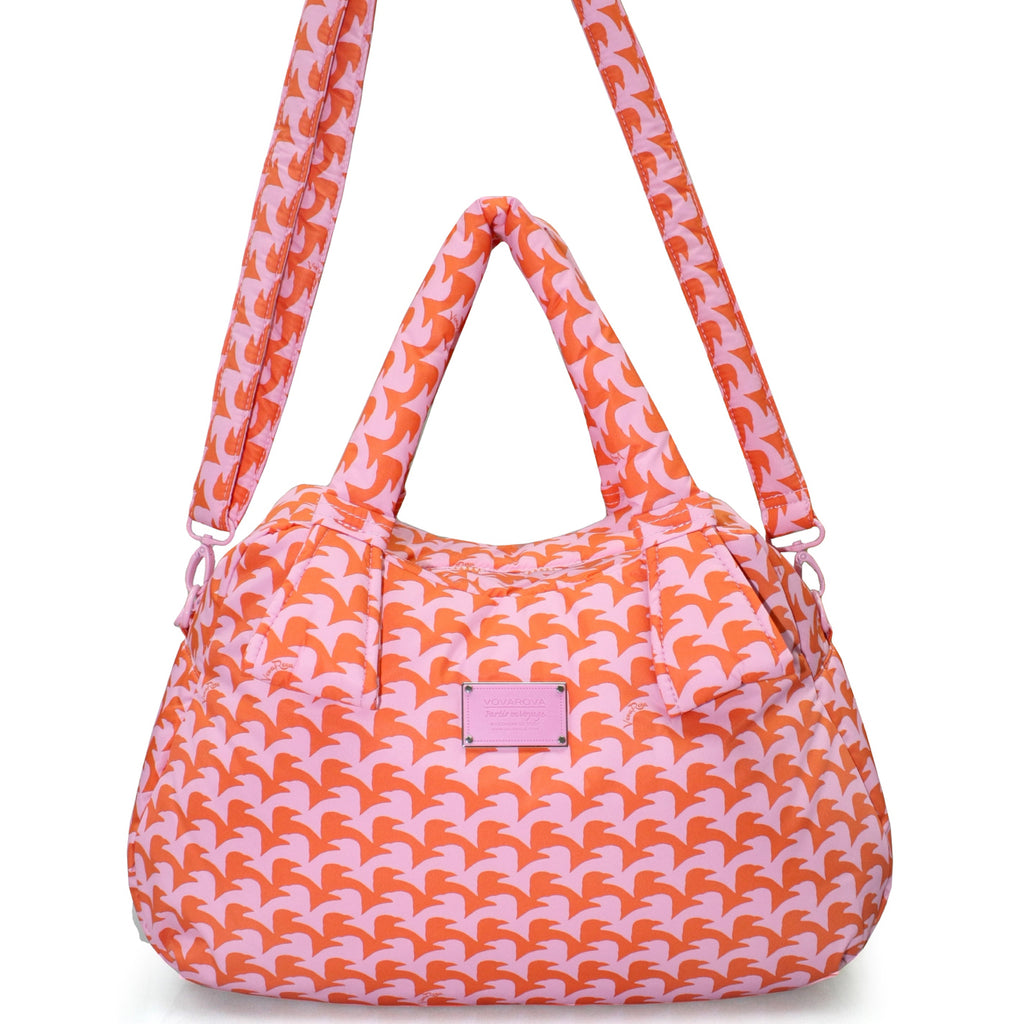 RIBBON DAY BAG - CHECKERS IN VOGUE - PINK