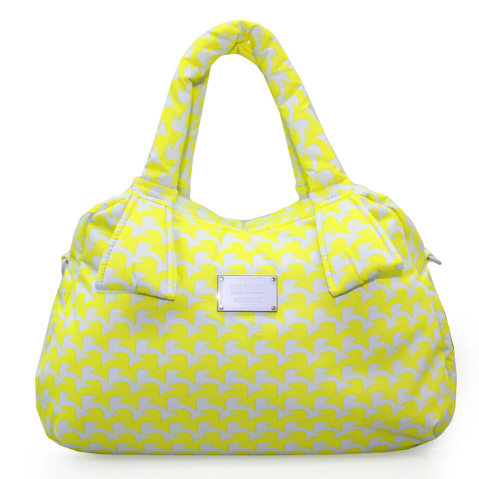 RIBBON DAY BAG - CHECKERS IN VOGUE - YELLOW