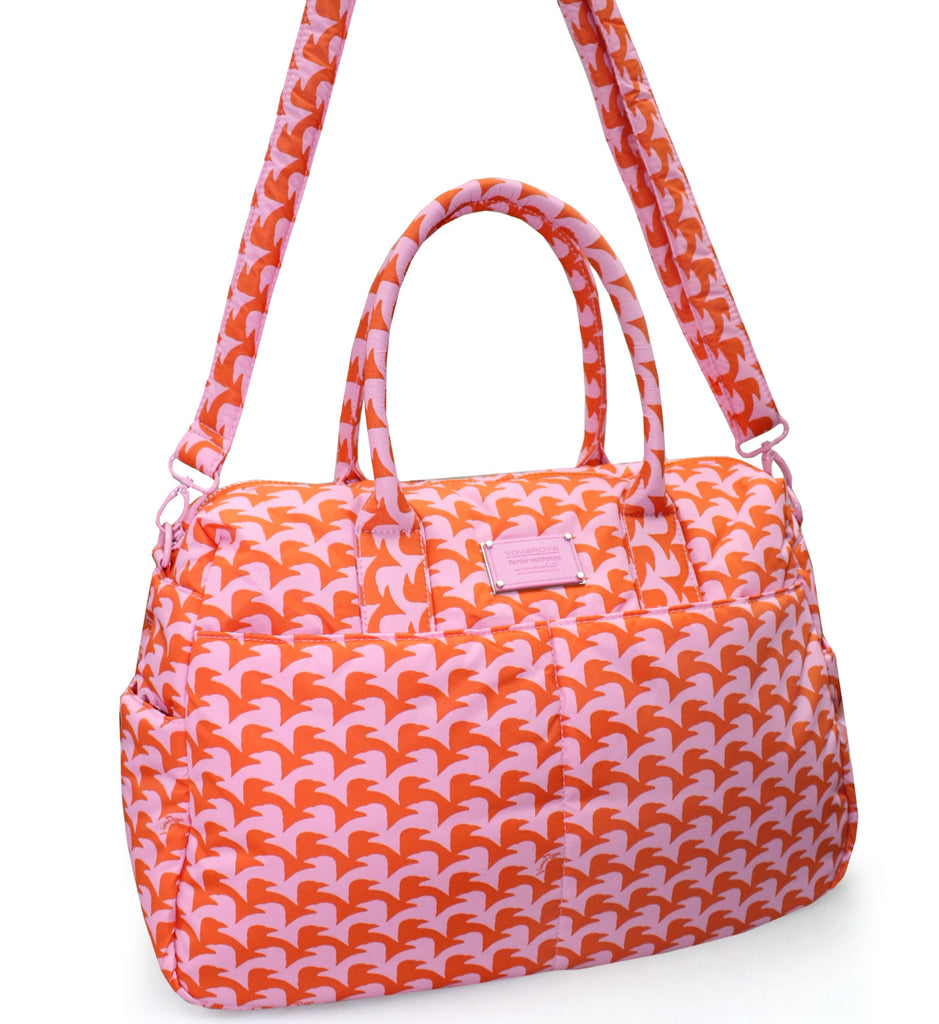 BOSTON BAG - CHECKERS IN VOGUE - PINK