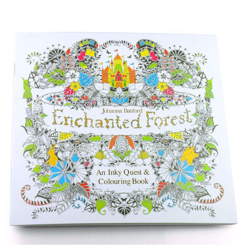 Enchanted Forest Relieve Stress Colouring Book