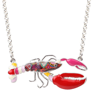 """CLAWFUL"" Crawfish Shrimp Lobster Necklace"
