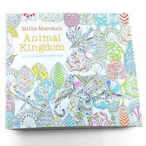 Animal Kingdom Relieve Stress Colouring Book