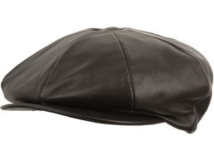LAMBSKIN NEWSBOY BROWN