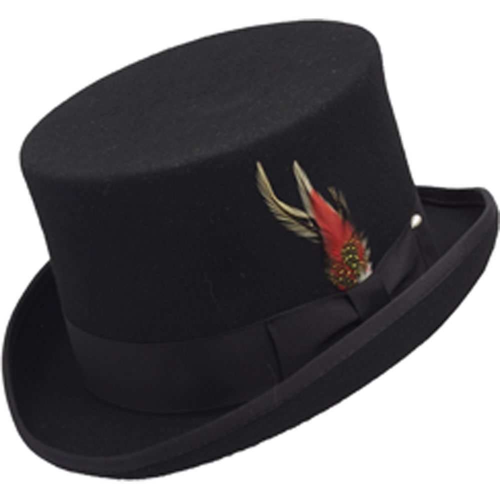 WOOL TOP HAT BLACK
