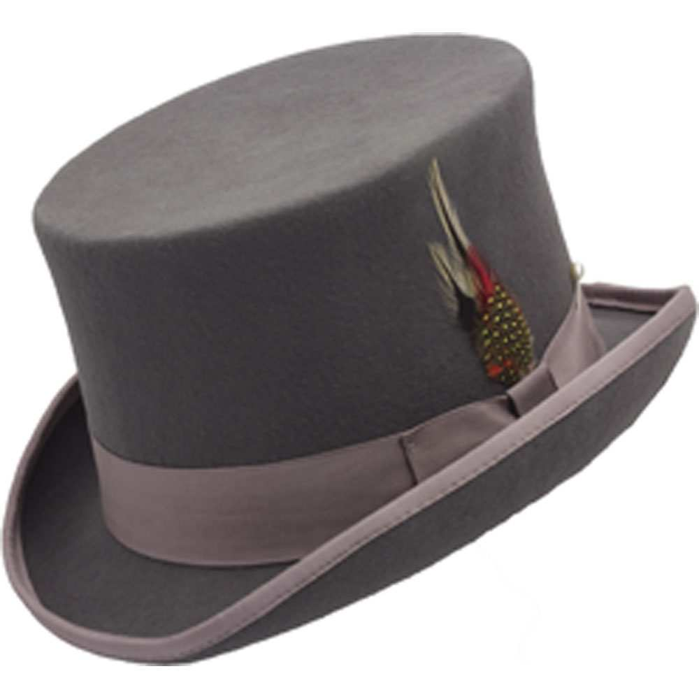 WOOL TOP HAT GREY