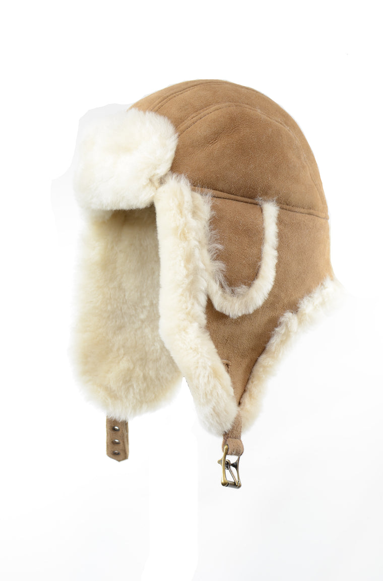 CROWN SHEARLING AVIATOR CAMEL