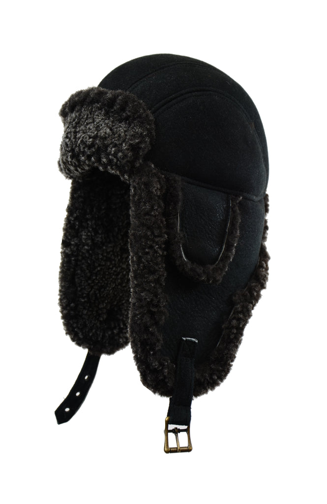 CROWN SHEARLING AVIATOR FROSTED BLACK