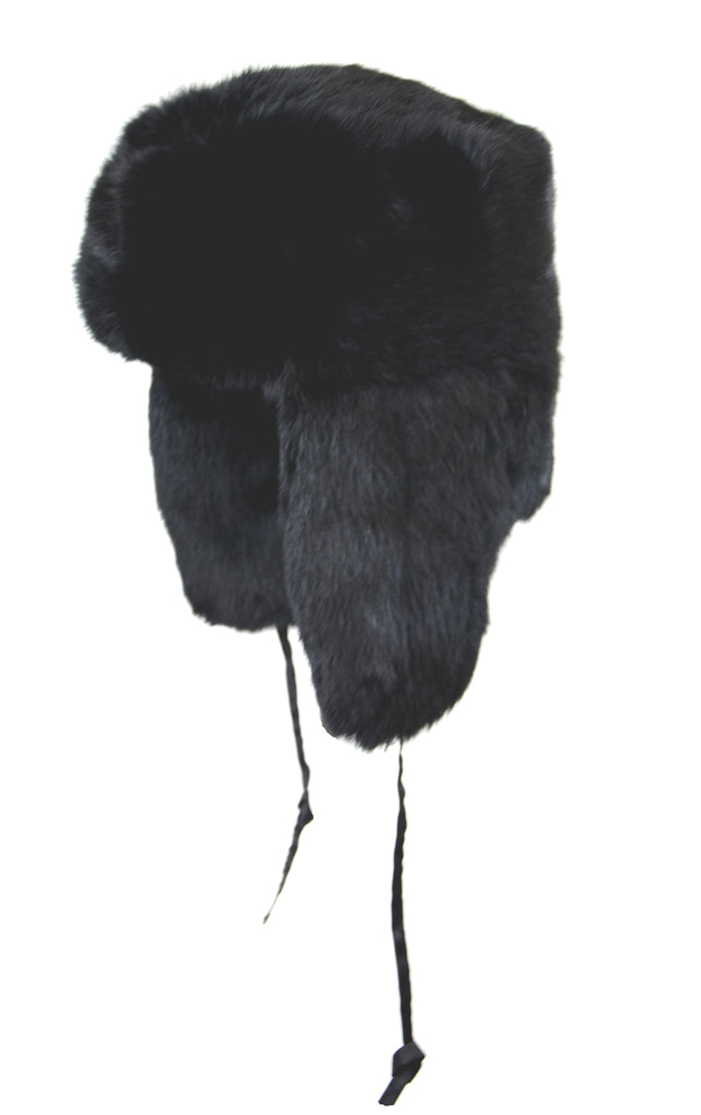 CROWN RABBIT FUR TROOPER BLACK