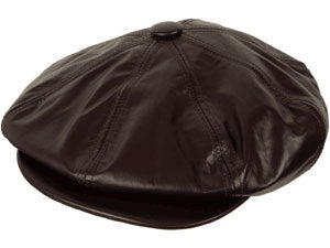 The Leather Big Apple Cap - Mike The Hatter 85fc562fd