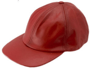 LEATHER BASEBALL RED