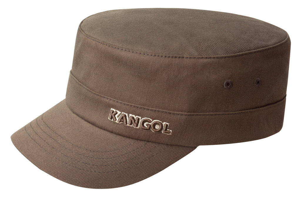 COTTON TWILL ARMY CAP BROWN