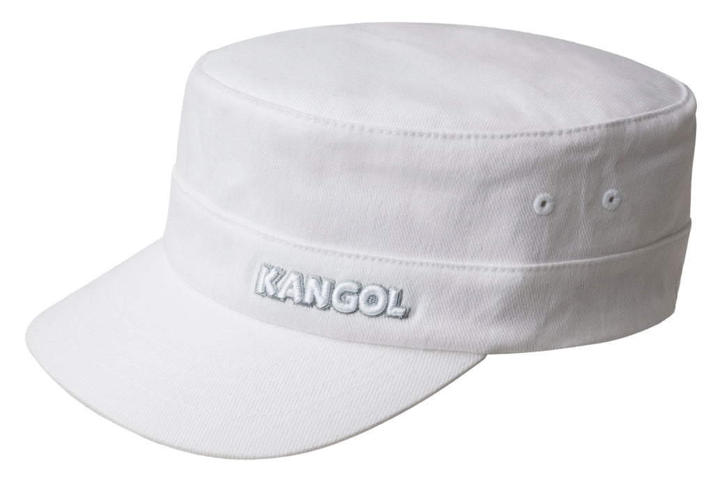 COTTON TWILL ARMY CAP WHITE