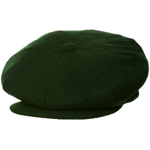 WOOL NEWSBOY GREEN